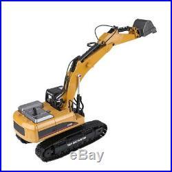 HUINA 1580 114 3 in 1 RC Full Metal Model Excavator Engineering Vehicle Toy HOT
