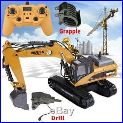 HUINA 1580 2.4G 114 3 in 1 RC Full Metal Excavator Engineering Vehicle Collect