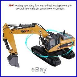 HUINA 1580 2.4G 114 3 in 1 RC Full Metal Excavator Engineering Vehicle Decorat