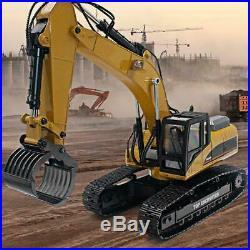 HUINA 1580 2.4G 114 3in1 RC Electric Full Metal Excavator Engineering Vehicle U