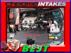 K&N+BLACK RED 99-05 PONTIAC GRAND AM/OLDSMOBILE ALERO FULL COLD AIR INTAKE 3p