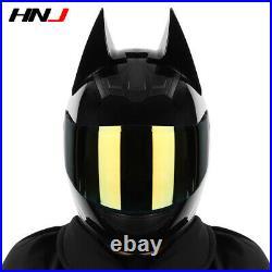Knight Helmets Motorcycle Men Women Locomotive Personality Cool Full Face Helmet