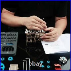 L4 4 Cylinder Full Metal Car Engine Assembly Kit Model Toys Engine Building Kit