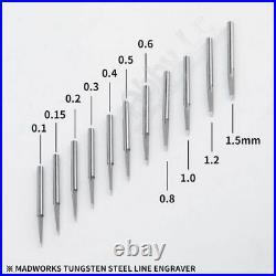 MADWORKS Tungsten Steel Chisel 0.1/0.15/0.2/0.3/0.4/0.5/0.6/0.8/1/1.2/1.5mm