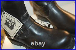 NU Frye Sutton Engineer full grain Leather size 10 Mens Biker Boots Black $400