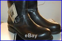 NU Frye Sutton Engineer full grain Leather size 8.5 Mens Biker Boots Black $400