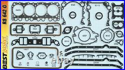 Oldsmobile Olds 394 Full Engine Gasket Set 1961- 1964 With Rubber Rear Main Seal