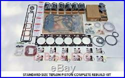 Overhaul Rebuild STD SIZE WITH TEFLON PISTONS for 94-98 Cummins 5.9 12V 6BT 2500