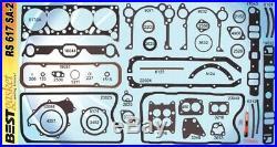 Pontiac 326 389 421 Full Engine Gasket Set/Kit BEST Head+Intake+Oil Pan 1961-67
