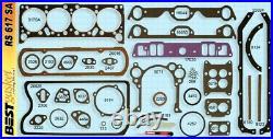 Pontiac 370 389 Full Engine Gasket Set/Kit BEST Head+Intake+Oil Pan 1958-60
