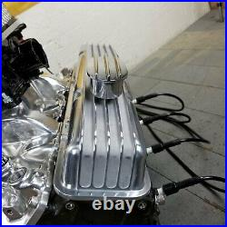 SB Chevy 12 Full Fin Air Cleaner Valve Covers Engine Dress Up Kit Breathers 350