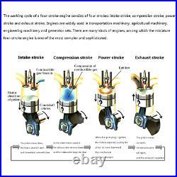 Toyan FS-S100A Cylinder 4-Stroke Methanol Engine Kit Full Metal Micro RC Motor
