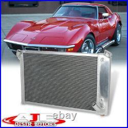 Tri Core 3-Row Full Aluminum Cooling Radiator For 1969-1972 Corvette C3 5.7L V8