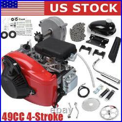 US Full Set 49cc Bike Bicycle Motorized 4 Stroke Petrol Gas Motor Engine Kit Set
