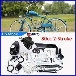 Updated DIY 2 Stroke 80cc Motor Engine Kit For Motorized Bicycle Full Set USA