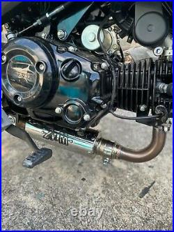 ZoOM Exhaust Honda GROM 125 2022 Full System The Brute Low Mount stock engine